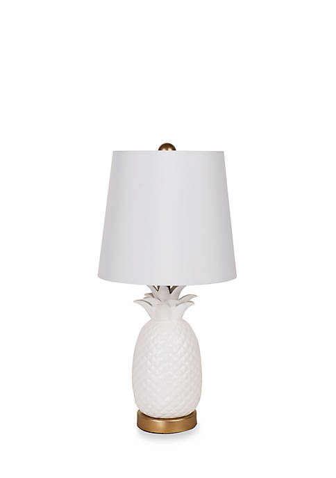 Catalina Lighting White Pineapple Table Lamp