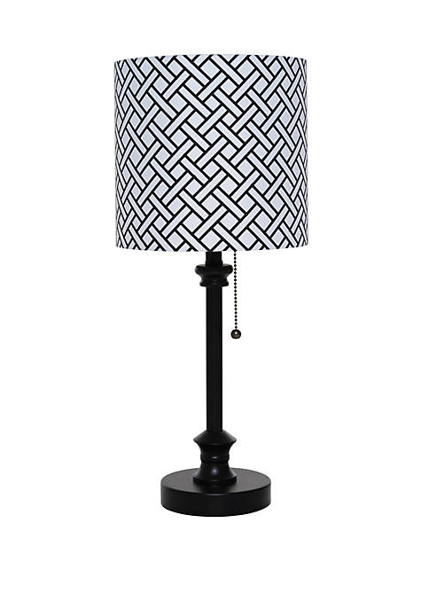 Catalina Lighting Black Metal Stick Lamp