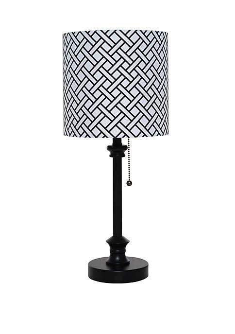 Catalina Lighting Black Metal Stick Lamp