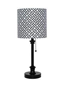 Black Metal Stick Lamp