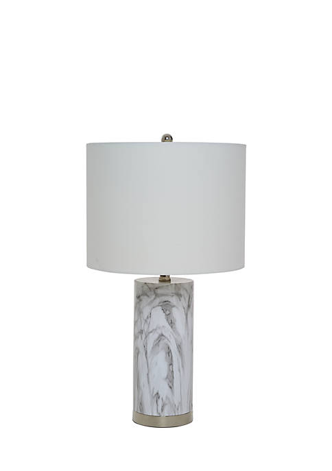 Catalina Lighting Morgan Faux Marble Table Lamp