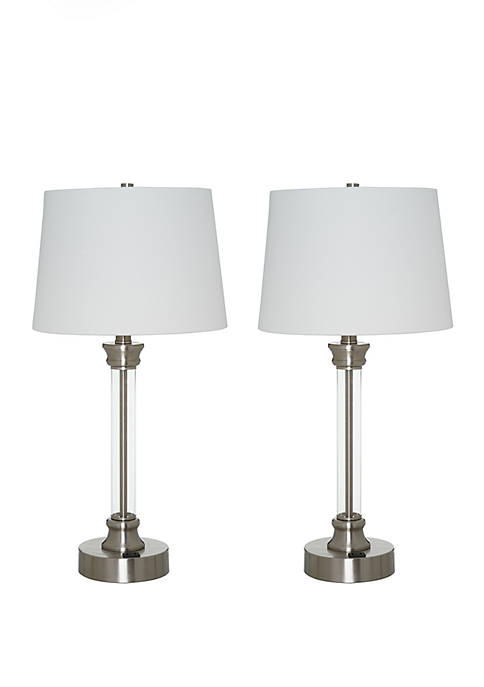 Catalina Lighting Acrylic Tube Table Lamp- Set of