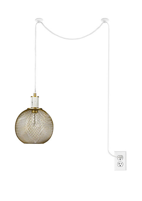cupcakes and cashmere™ Metal Mesh Swag Pendant with
