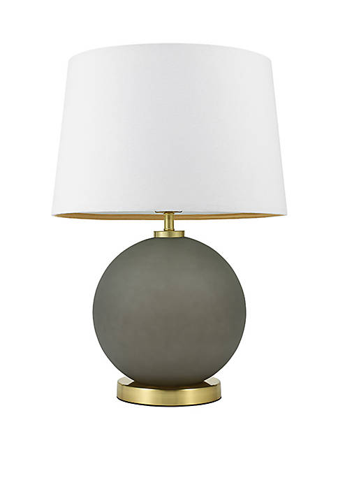 Elemental Gray Glass Table Lamp