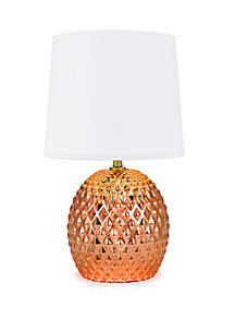 Faceted Glass Table Lamp - Blush