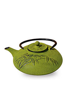 Moss Green Cast Iron Positivity Teapot