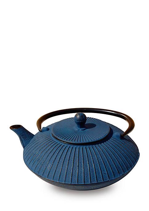 Blue Cast Iron Fidelity Teapot