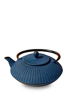 Blue Cast Iron Fidelity Teapot