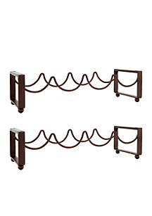 4 Bottle Oiled Bronze Stacking Wine Racks