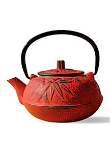 Red Osaka Cast Iron Teapot