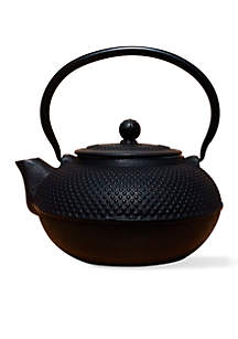 Matte Black Cast Iron Saga Teapot