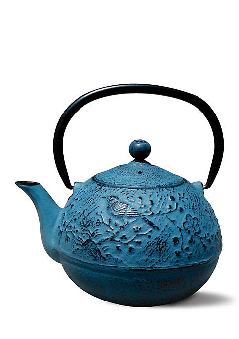 Waterfall Blue Cast Iron Suzume Teapot
