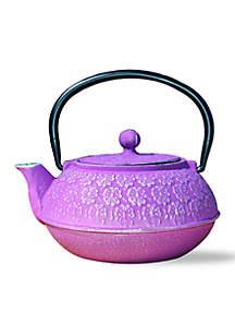 Plum Cherry Blossom Cast Iron Tetsubin Teapot