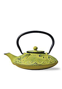 Moss Green Cast Iron Gon Koi Tetsubin Teapot