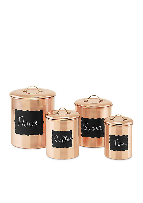 Decor Copper Chalkboard Canisters, Set of 4