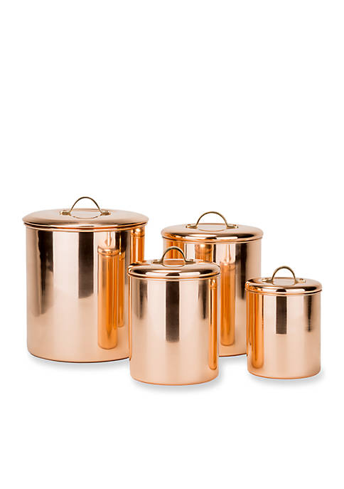 Old Dutch International, Ltd. 4-Piece Polished Copper Canister