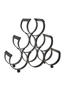 6 Bottle Iron Wine Rack, Matte Black