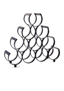 10-Bottle Iron Wine Rack, Matte Black