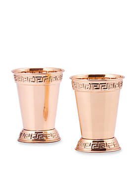 Solid Copper Mint Julep Cups,  Set of 2