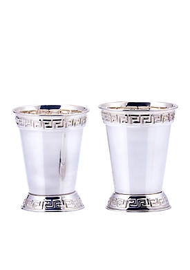 Silver Plated Mint Julep Cups, Set of 2