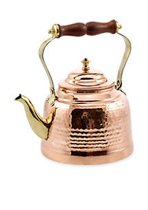 2-qt. Solid Copper Hand-hammered Tea Kettle