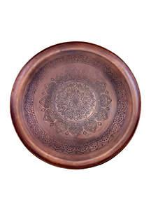 Casablanca Antique Copper Etched Tray