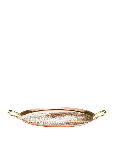 Hammered Antique Copper Tray