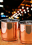2-ply Solid Copper and Stainless Steel Whiskey Tumblers, Set of 2
