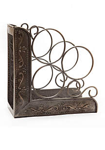 Victoria 3 Bottle Wine Rack Bookend