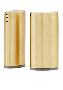 Old Dutch International, Ltd. Champagne Tone Oval Salt & Pepper Shaker Set