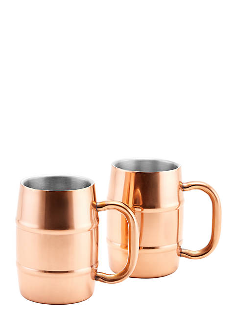 Set of 2 KeepKool® DuraCopper® Stainless Steel Mugs