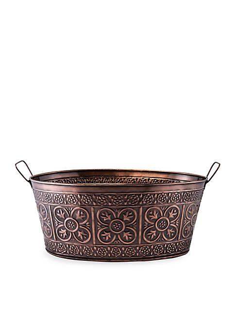 Antique Copper Party Tub