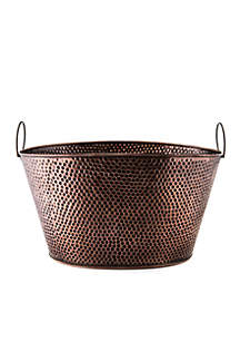 Antique Copper Party Tub. 8-gal.