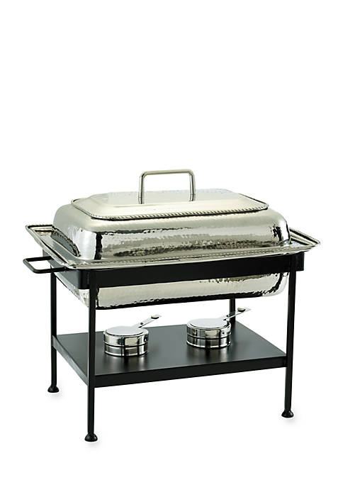 Polished Nickel over Stainless Steel Rectangular Chafing Dish, 8-qt