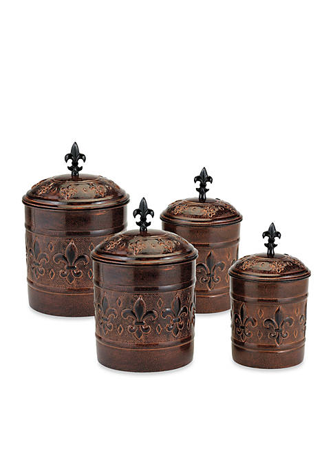 Old Dutch International, Ltd. 4-Piece Versailles Canister Set