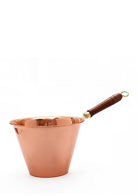 Copper Polenta Pan with Wooden Handle, 5-qt.