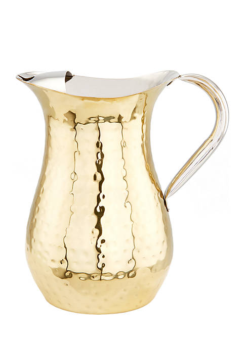 Hammered Champagne Tone Water Pitcher