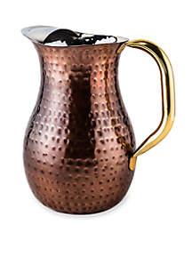 Old Dutch International, Ltd. Decor Antique Copper Hammered Red Water Pitcher