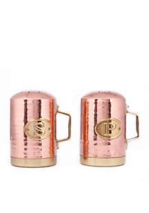 Old Dutch International, Ltd. Decor Copper Hammered Stovetop Salt & Pepper Set