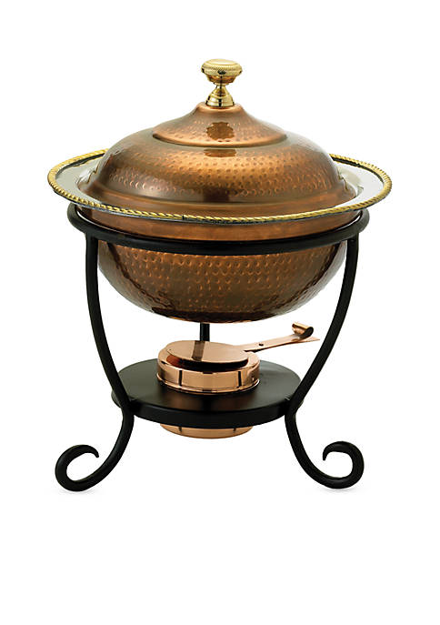 Antique Copper over Stainless Steel Round Chafing Dish