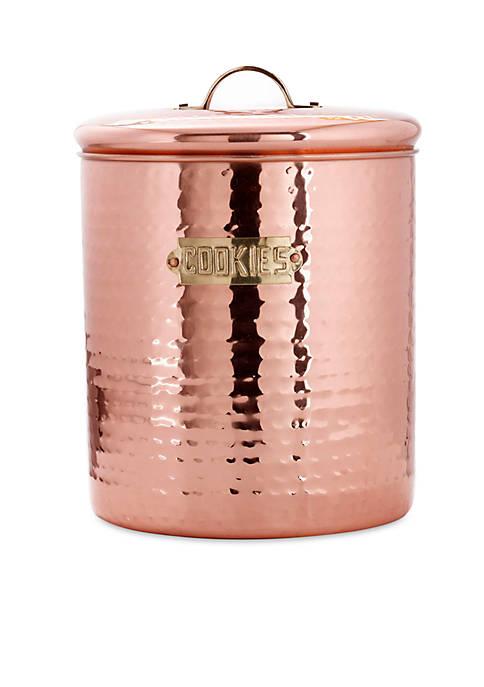 Hammered Decor Copper Cookie Jar