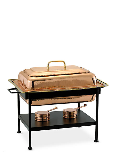 Decor Copper over Stainless Steel Rectangular Chafing Dish, 8-qt.
