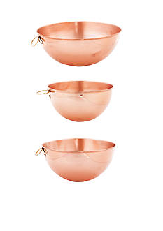 Old Dutch International, Ltd. Solid Copper Beating Bowls, Set of 3