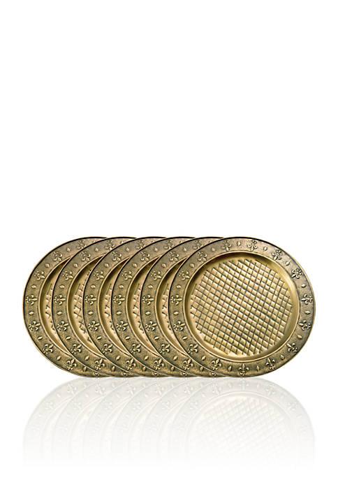 Old Dutch International, Ltd. Antique Brass Charger Plates