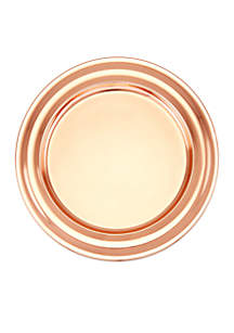 Copper Collar Rim Charger Plates, Set of 6