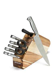 Biltmore® 10-Piece Stainless Steel Space Saving Knife Block Set