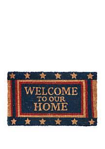 C&F Welcome To Our Home Mat