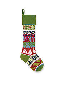 27.5-in. Tree  Knit Stocking