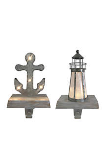 Anchor and Lighthouse Stocking Holders