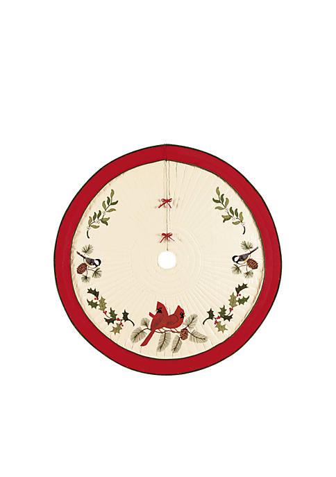 C&F Holiday Song Birds Tree Skirt